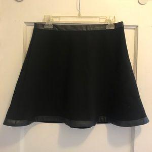 Black Banana Republic Skirt with leather trim